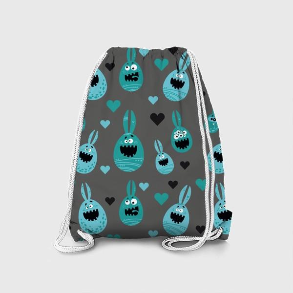 Рюкзак «Пасхальный паттерн на сером»