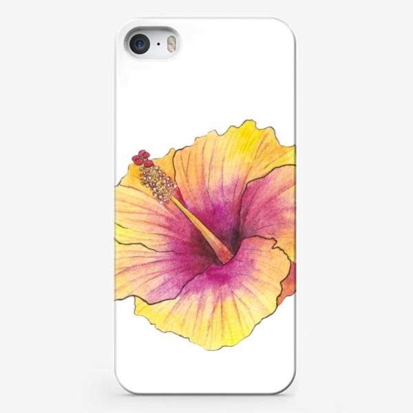 Чехол iPhone «Желтый цветок. Гибискус»