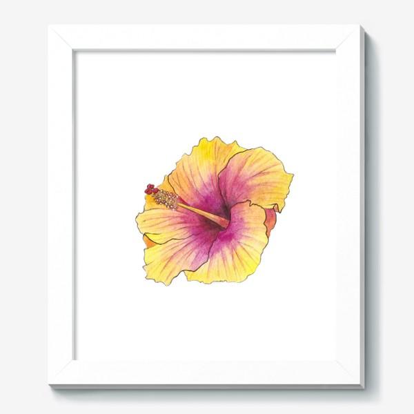 Картина «Желтый цветок. Гибискус»