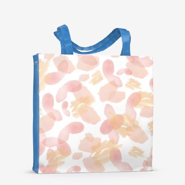 Сумка-шоппер «Абстракция акварельная розовая»