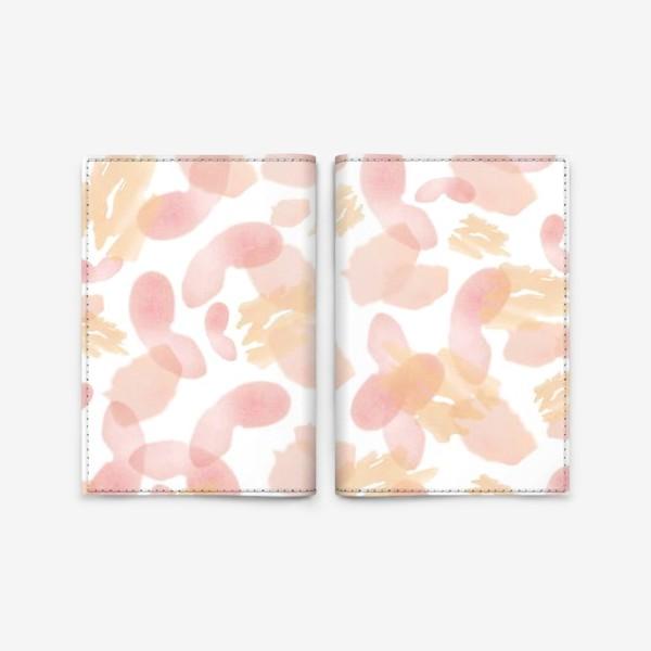 Обложка для паспорта «Абстракция акварельная розовая»