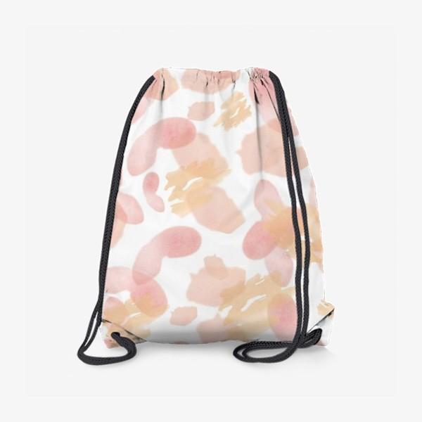 Рюкзак «Абстракция акварельная розовая»