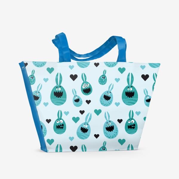 Пляжная сумка «Пасхальный паттерн»