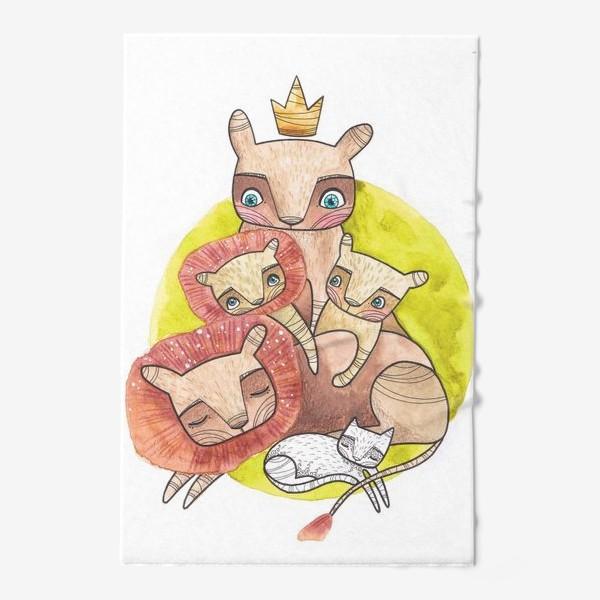 Полотенце «семья львов»