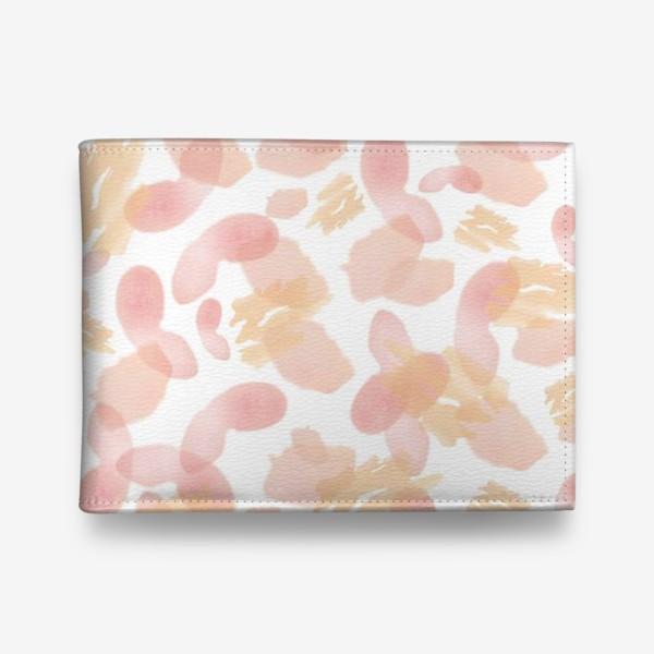 Кошелек «Абстракция акварельная розовая»