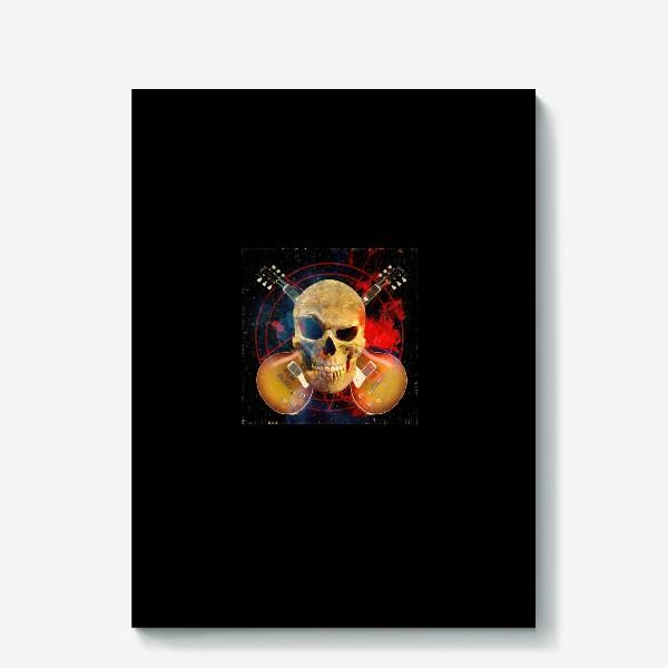 Холст «Каверы Пушного на черном фоне»