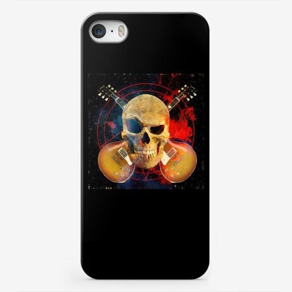 Чехол iPhone «Каверы Пушного на черном фоне»