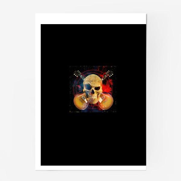 Постер «Каверы Пушного на черном фоне»