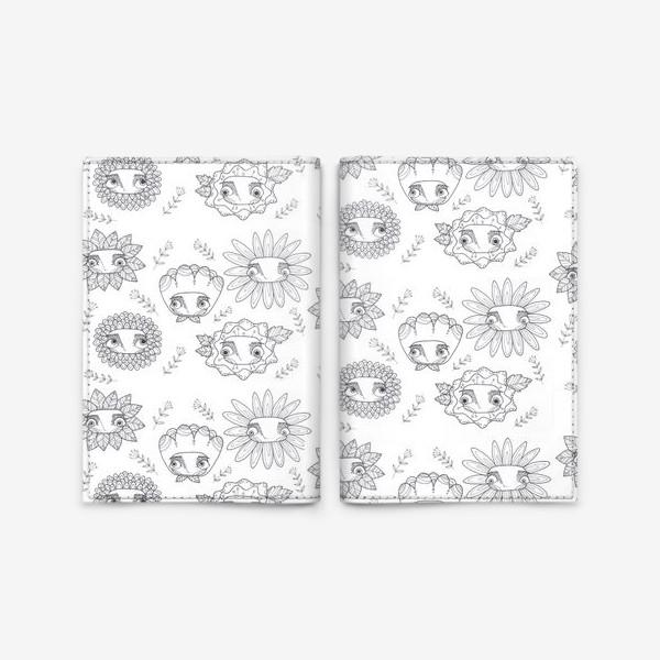 Обложка для паспорта «паттерн цветы»