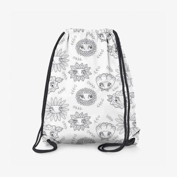 Рюкзак «паттерн цветы»