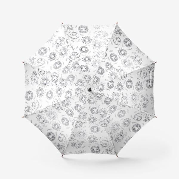 Зонт «паттерн цветы»