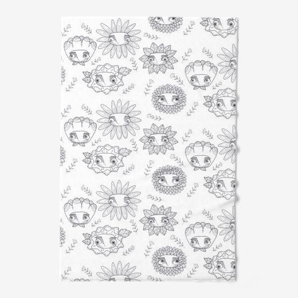 Полотенце «паттерн цветы»