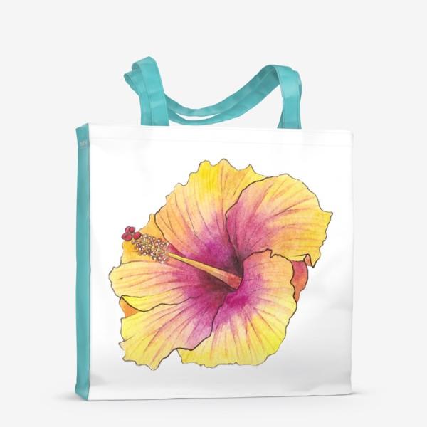 Сумка-шоппер «Желтый цветок. Гибискус»