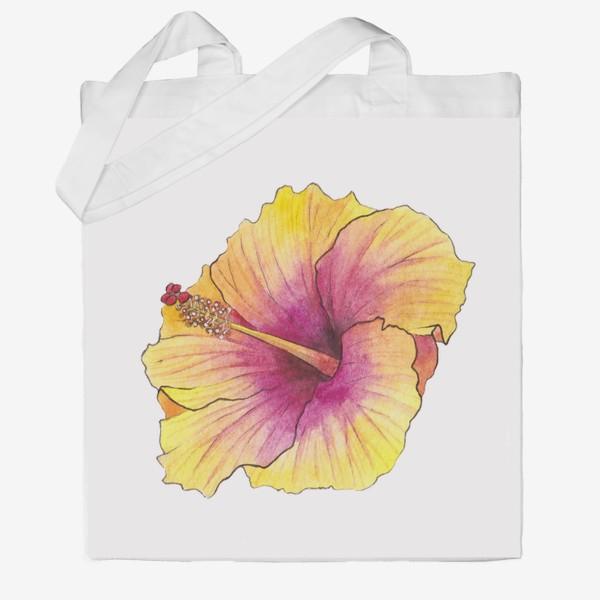 Сумка хб «Желтый цветок. Гибискус»