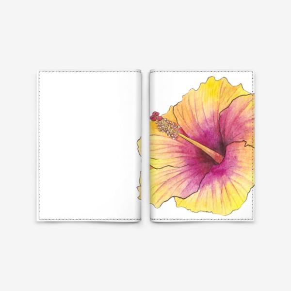 Обложка для паспорта «Желтый цветок. Гибискус»