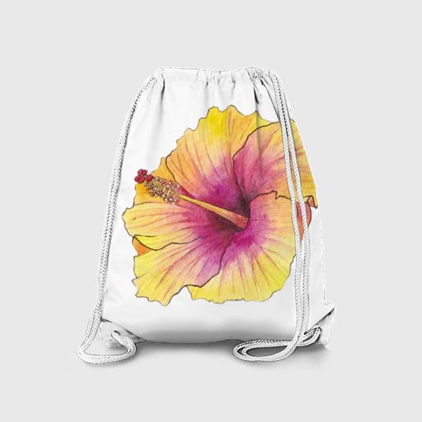 Рюкзак «Желтый цветок. Гибискус»