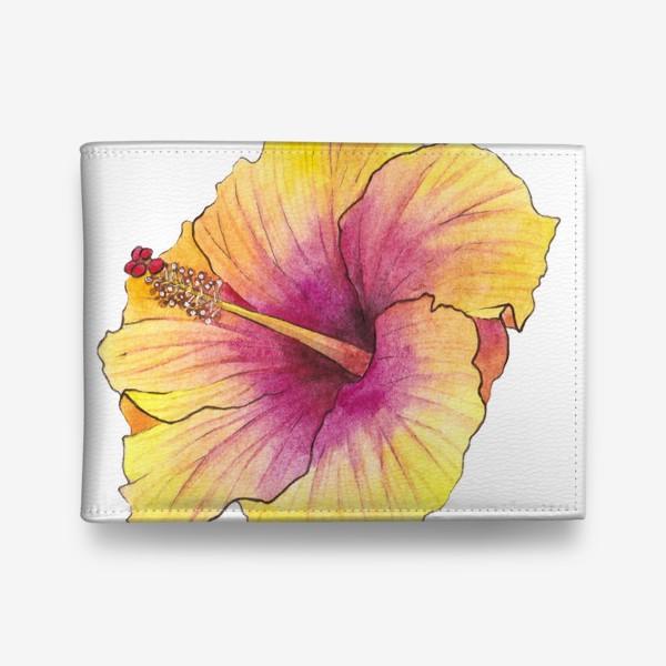 Кошелек «Желтый цветок. Гибискус»