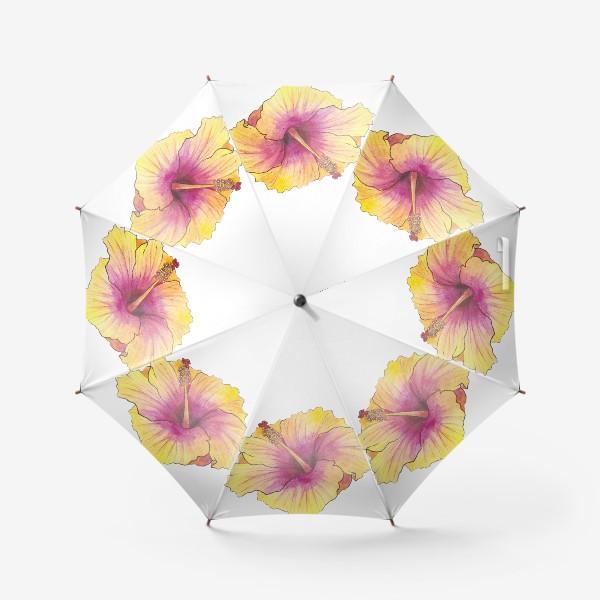 Зонт «Желтый цветок. Гибискус»