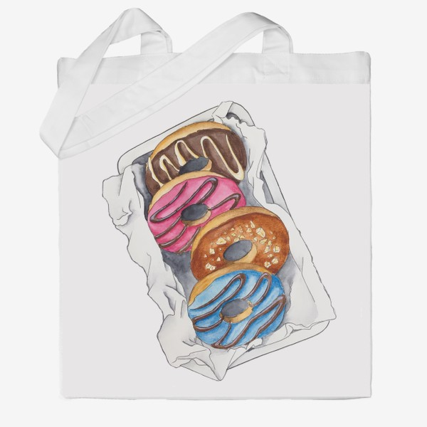 Сумка хб «Пончики»