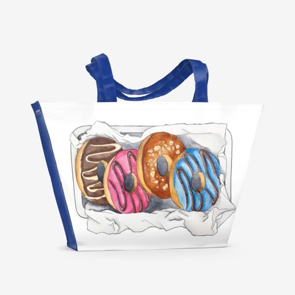 Пляжная сумка «Пончики»