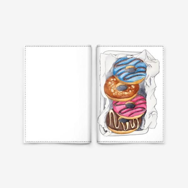 Обложка для паспорта «Пончики»