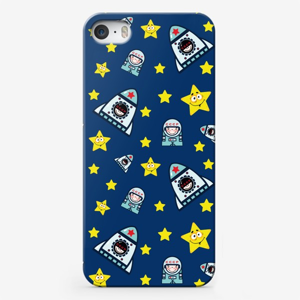 Чехол iPhone «Паттерн космос на фоне.»