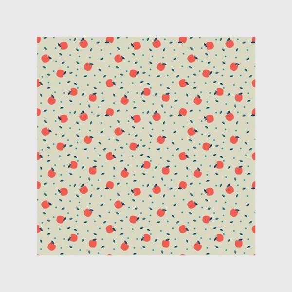 Шторы «Много красных яблочек»