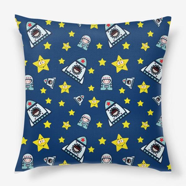 Подушка «Паттерн космос на фоне.»