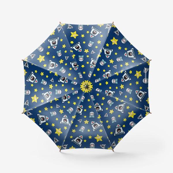 Зонт «Паттерн космос на фоне.»
