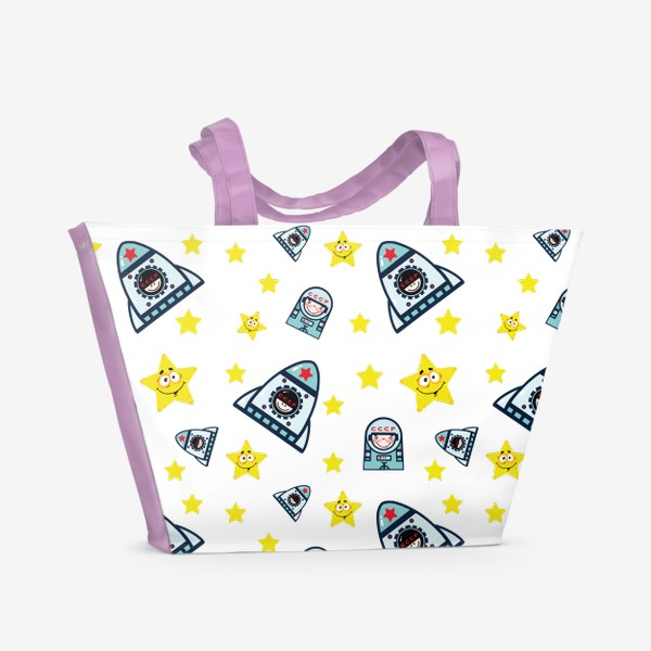 Пляжная сумка «Паттерн космос. »