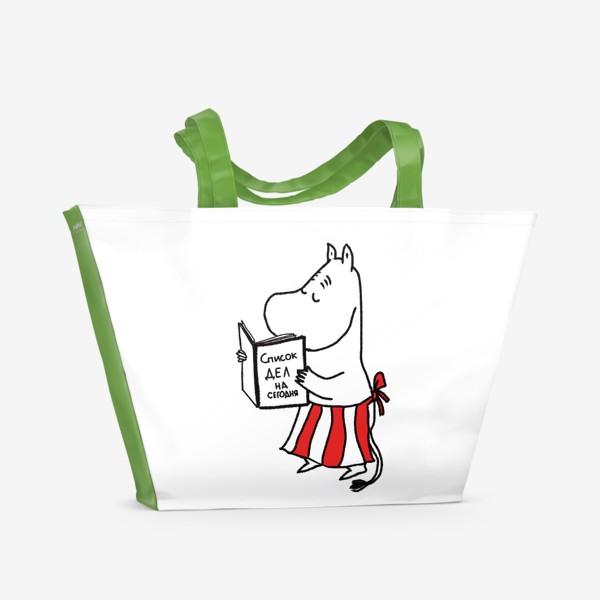 Пляжная сумка «Муми-Мама. Очень занятая женщина.»