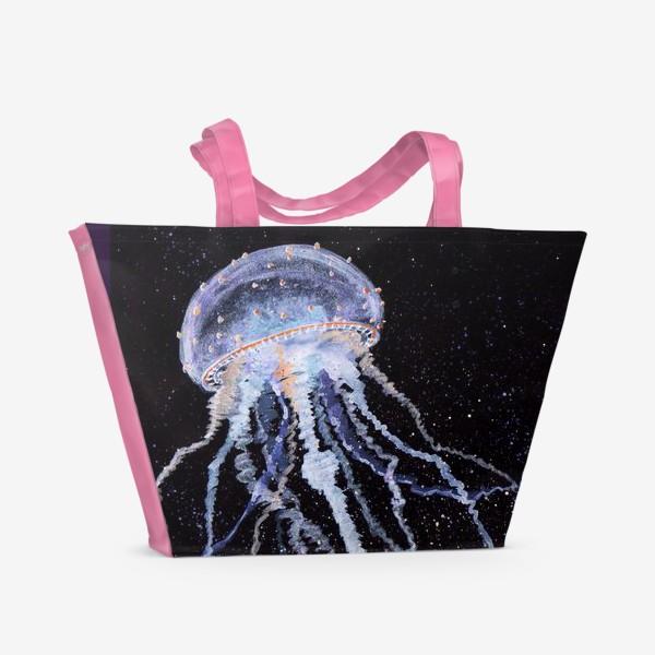 Пляжная сумка «МЕДУЗА НА ЧЕРНОМ»