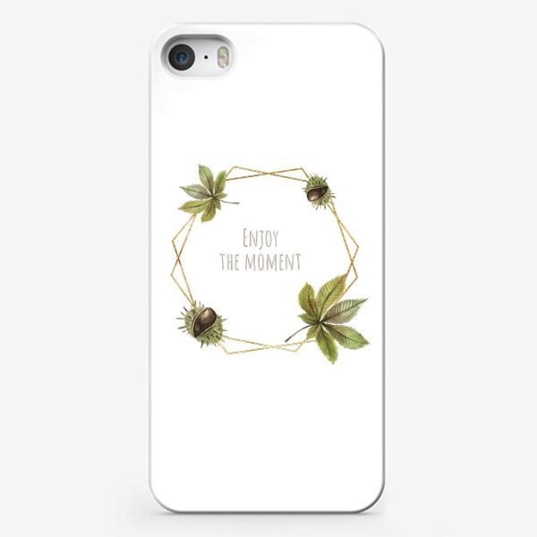 Чехол iPhone «Рамка каштан»