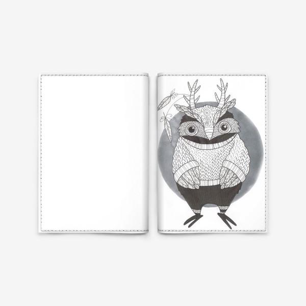 Обложка для паспорта «филин»