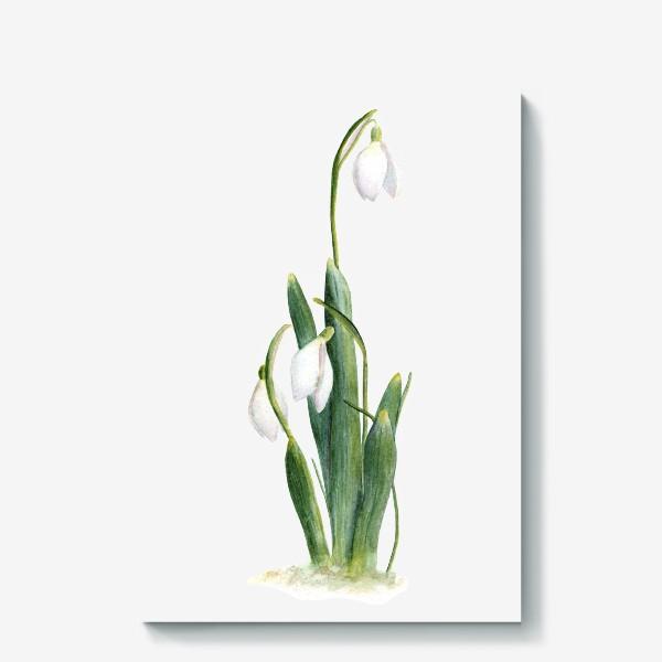Холст «Нежность самой весны. Подснежники.»