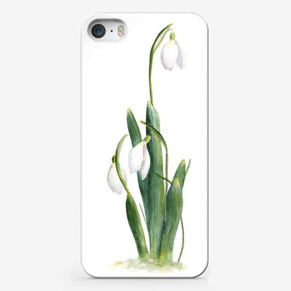 Чехол iPhone «Нежность самой весны. Подснежники.»
