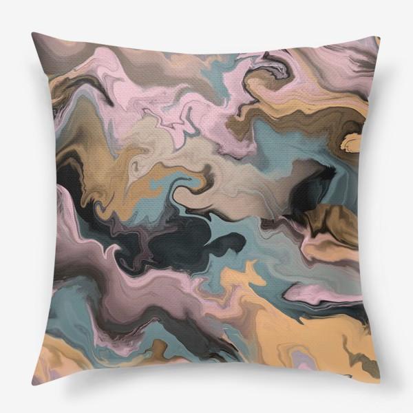 Подушка «абстрактный фон с эффектом акрила »