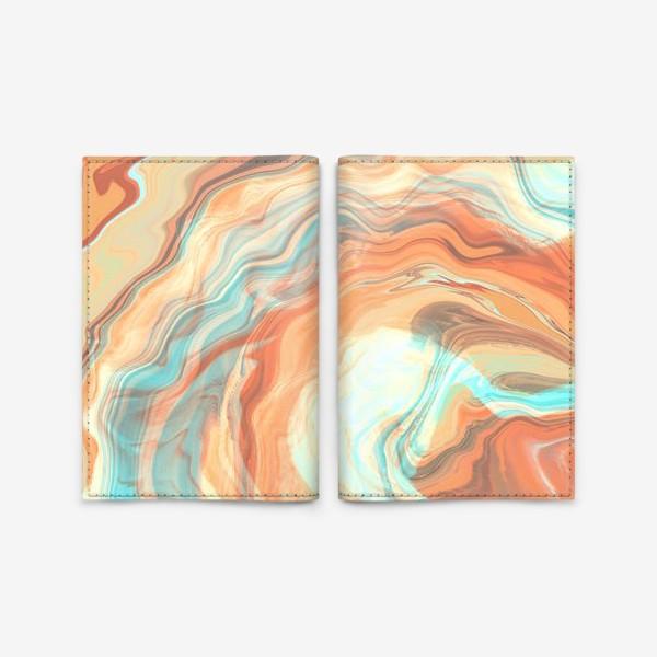 Обложка для паспорта «абстрактный оранжевый фон с эффектом акрила »