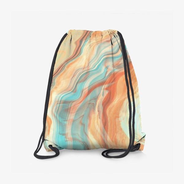 Рюкзак «абстрактный оранжевый фон с эффектом акрила »