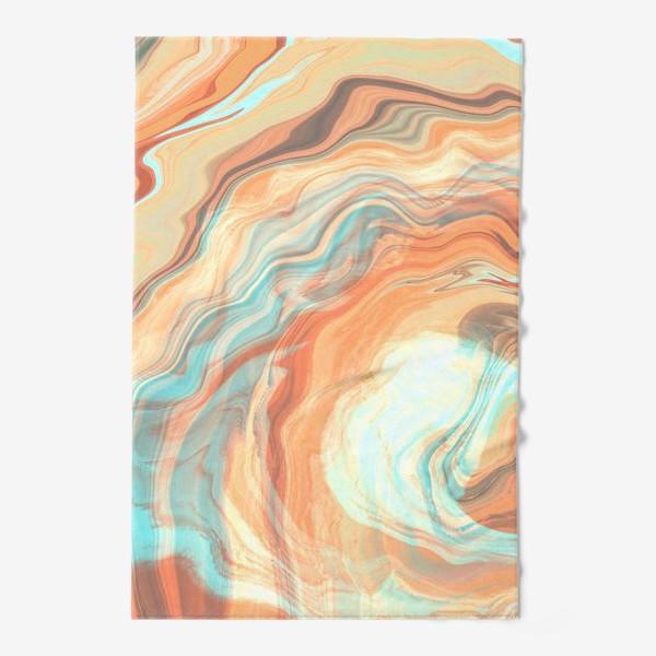 Полотенце «абстрактный оранжевый фон с эффектом акрила »