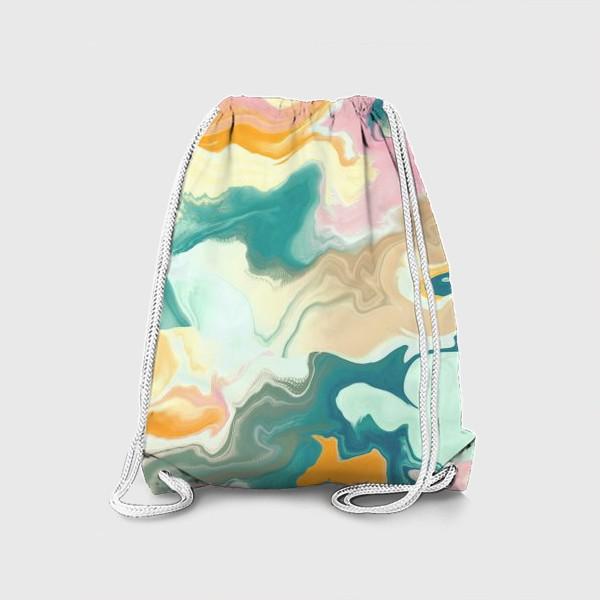 Рюкзак «абстрактный разноцветный  фон с эффектом акрила »
