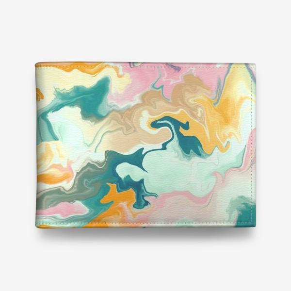 Кошелек «абстрактный разноцветный  фон с эффектом акрила »