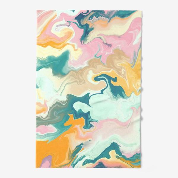 Полотенце «абстрактный разноцветный  фон с эффектом акрила »