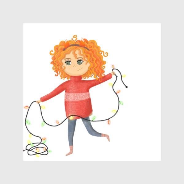 Скатерть «Девочка с гирляндой»