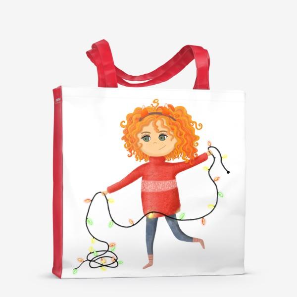 Сумка-шоппер «Девочка с гирляндой»