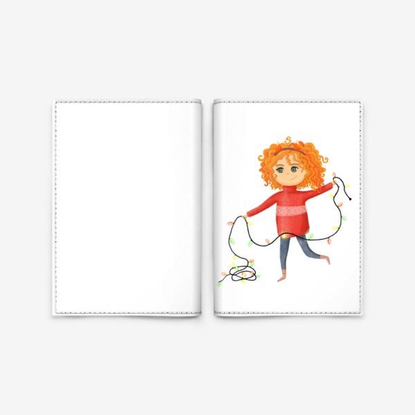 Обложка для паспорта «Девочка с гирляндой»