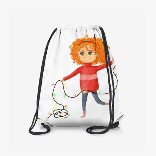 Рюкзак «Девочка с гирляндой»