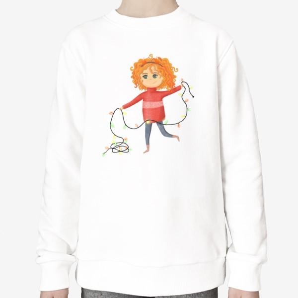 Свитшот «Девочка с гирляндой»