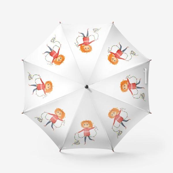 Зонт «Девочка с гирляндой»