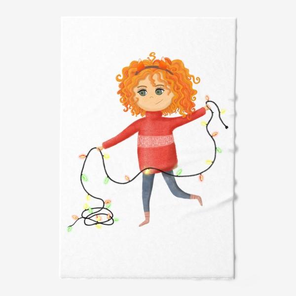 Полотенце «Девочка с гирляндой»